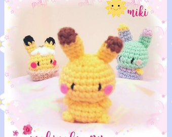 Adorable Pikachu plush, Pikachu amigurmi, kawaii pokemon plush, amigurumi pikachu, Cute pikachu plush, kawaii pokemon, pikachu keychain