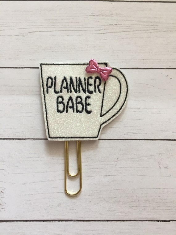 Planner Babe Coffee Cup Planner Clip/Planner Clip/Bookmark. Glitter Planner Clip. Coffee Planner Clip. Bossy Planner Clip