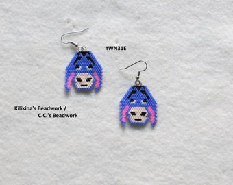 Native American Style Beaded Donkey Earrings