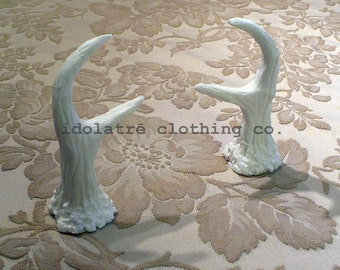 Unpainted Fawn Mini Antlers