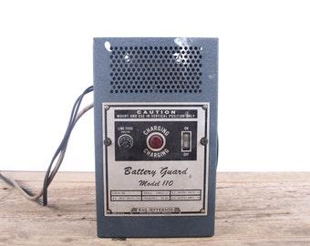Vintage Battery Guard Charger Model 110 / Ray Jefferson Electronics Decor / Industrial Set Prop / Steampunk Decoration / Vintage Electronics