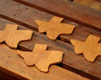 Texas Coasters- set of 4, Coaster Set, Wooden Coasters, Coffee/ Drink Coaster, Texas Gift, Handmade Coasters Texas, Housewarming Coasters TX