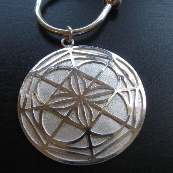 Sterling Silver Kenpo Universal Pattern Keychain