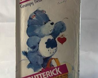 "80's Vintage UNCUT 17"" Grumpy Bear Care Bear Butterick Sewing Pattern 6228  FREE SHIPPING"