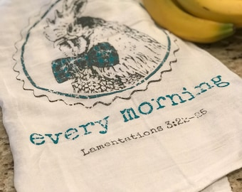 EVERY MORNING FARMHOUSE Rooster Tea Towel