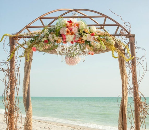 Burlap Wedding Altar: Wedding Drapes Burlap Ceremony Arch Beach Wedding Arch