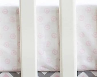Peace, Love & Pink Crib Baby Bedding | Crib Sheet