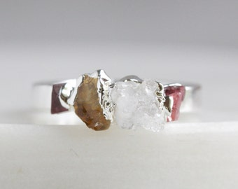 druzy ring / quartz ring / ruby ring / gemstone ring / druzy jewelry / crystal rings / citrine ring / november birthstone / july birthstone