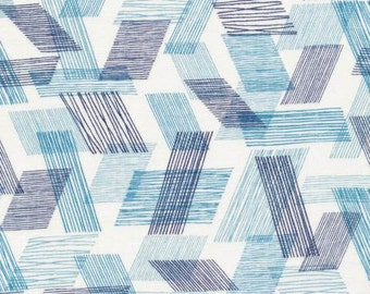 Threads DOUBLE GAUZE- Warp and Weft Teal by Eloise Renouf from Cloud 9 Fabrics