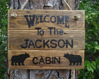 Personalized cabin sign | Cabin custom name sign | Rustic cabin sign | Wooden cabin sign | Cabin name sign | Cabin sign