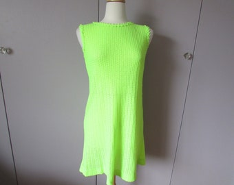 Vintage Florescent Knitted Shift Dress