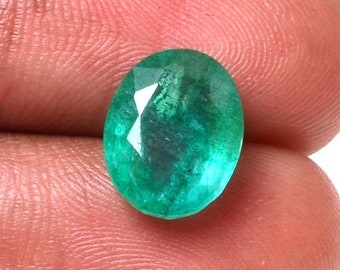 Emerald 3.8 Cts Emerald Oval  Shape Gemstone 11.62X9.28 MM Size Natural Emerald Loose Oval  shape Gemstone 06