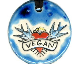 Vegan Necklace in Blue