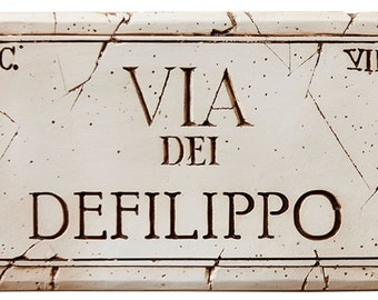 Rome Street Sign Customized with Your name