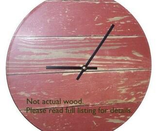 Barn red clock Etsy