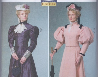 Butterick 6537 Misses Women's Victorian Edwardian Costume Suit Dress Skirt UNCUT Sewing Pattern