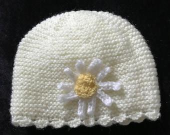 Newborn baby daisy hat