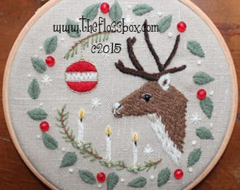 That Old Christmas Feeling Crewel Embroidery Pattern and Kit