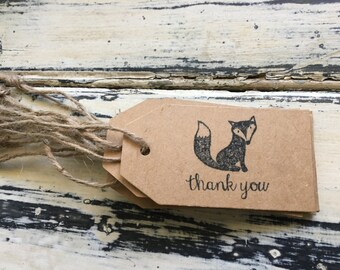 10 x Fox Thank You Gift Tags