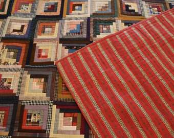 Log Cabin Quilt: If You Buy ONE Log Cabin, This Should Be The One!!