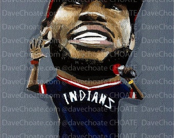LeBron James, Cleveland Cavaliers- Art Print Cleveland Indians ALDS Playoffs vs Boston