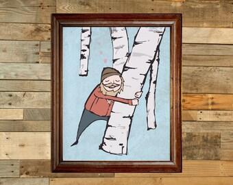 Lumberjack Love graphic print