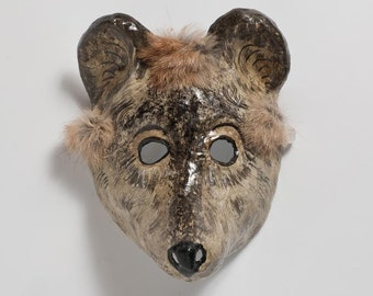 carnival mouse paper mask