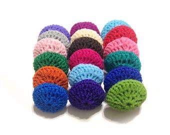 Assorted Crocheted Nylon Netting Dish Scrubbies-Mystery Lot Of Eighteen