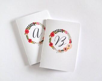 Sale | Discontinued: Monogram Blooming Wreath Pocket Journal