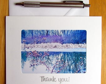 Thank You Card, Thank You, Winter Scene, Photo Card, Note Card, Greeting Card, Photo Note Card, Nature Photo Card, Handmade Cards, Cards