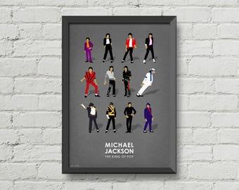 michael jackson poster,Digital print,Illustration,wall decor,music poster,pop poster,music,christmas gift,michael jackson art,