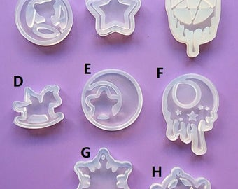 Resin mould,resin casting,sailor moon resin mould,star mould,snow flake mould