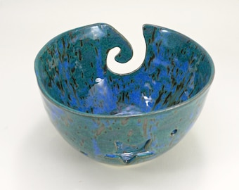 Yarn Bowl Knitting Bowl Crochet Bowl Lead free Glaze STONEWARE