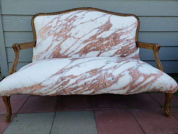 Rose Gold Marble Settee