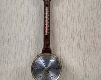 Vintage Airguide Weather Station Thermometer Barometer Hygrometer