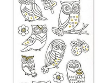 Paper Craft Stickers Scrapbooking Color Art Therapy Hoot Hoot Owls