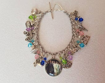 Downton abbey inspired charm bracelet
