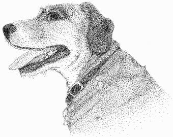 Customized Pet Pointillism Portrait