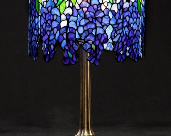 Tiffany Lamp, Pony Wisteria, Standing Lamp, Desk Lamp, Stained Glass Lamp, Nightstand Decor, Lamps, Shade, Stained Glass Art, Lampshade