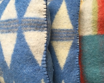 Image result for handmade blue wool blanket