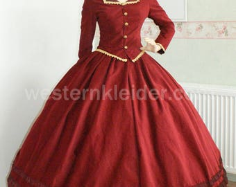 Victorian dress day dress Biedermeier dress promenade dress southern dress