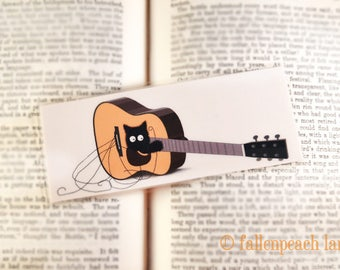Black Cat in a Guitar Laminated Bookmark