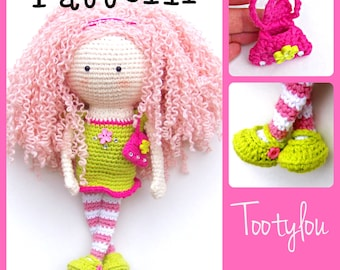 Crochet Doll  Pattern with Purse, Tootylou