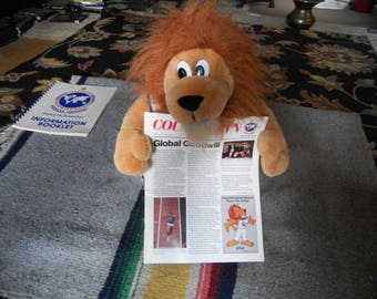 "Goodwill Games 1990 Mascot "" Unitus the Lion"""
