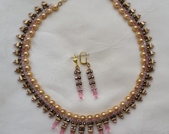 Emma necklace and earrings set