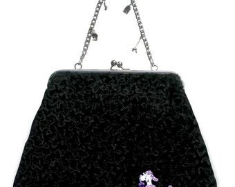 Couture Vintage Jet Set inspired Handbag. Handmade in the USA- Paris Poodle