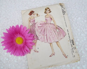 Vintage McCall's Pattern, Sewing McCall's Skirt and Bodice Pattern, 1950's Pattern, Summer Dress Pattern, Misses and Juniors Pattern