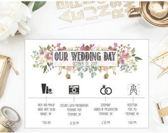 Photo wedding itinerary, Destination wedding itinerary, wedding weekend itinerary, download wedding itinerary, printable wedding itinerary