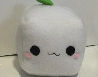 Tofu cube plush