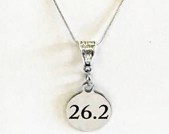 Marathon 26.2 Necklace, 26.2 Miles, 26.2 Marathon Jewelry, 26.2 Pendant Necklace, Running Gift For Her, Love To Run, Runner Jewelry Gift
